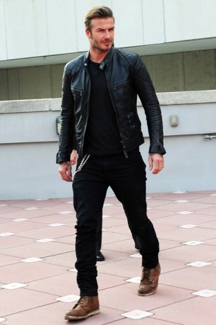 How he wore this in Miami's heat I have no clue.. but this Belstaff leather jacket is real nice!