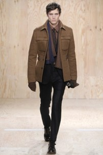 The layering is great. The button down, nice coat, and scarf (fashion trend!)