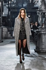 I love the layered necklace and the long coat!