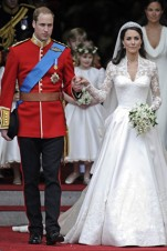 The Queen's wedding dress was designed by Alexander!